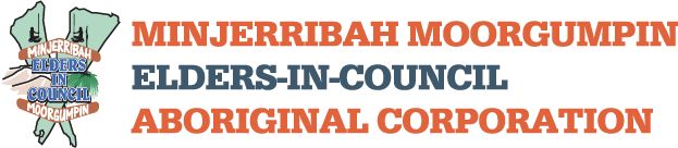 Minjerribah Moorgumpin Elders-In-Council Aboriginal Corporation Logo